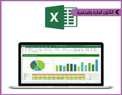 تطبيقات الاكسل في المحاسبة المالية